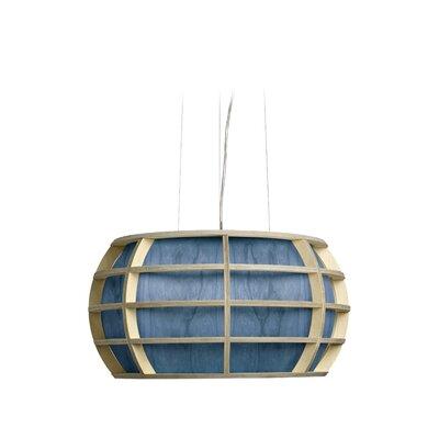 Briganti 1-Light Oval Shade Globe Pendant Shade Color: Blue