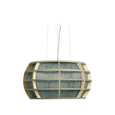 Kim 1-Light Globe Pendant Shade Color: Turquoise