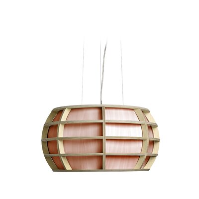Briganti 1-Light Oval Shade Globe Pendant Shade Color: Pink