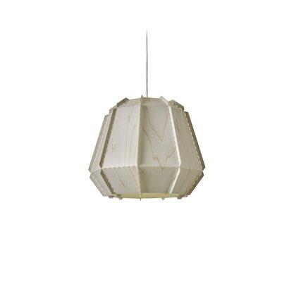 Conkle Stitches 1-Light Geometric Pendant Shade Color: Ivory White, Bulb Base: GU24