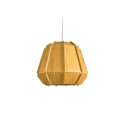 Conkle Stitches 1-Light Geometric Pendant Shade Color: Yellow, Bulb Base: GU24