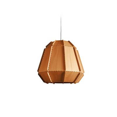 Conkle Stitches 1-Light Geometric Pendant Shade Color: Orange, Bulb Base: E26/Medium (Standard)