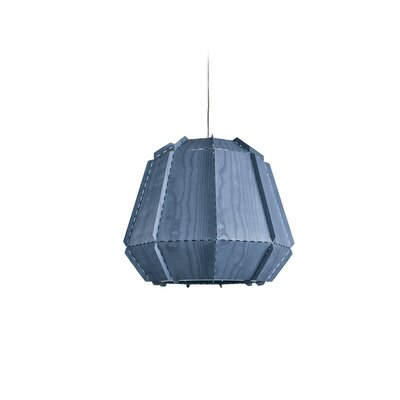 Conkle Stitches 1-Light Geometric Pendant Shade Color: Blue, Bulb Base: E26/Medium (Standard)