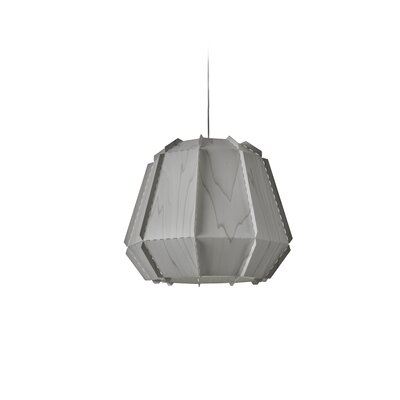 Conkle Stitches 1-Light Geometric Pendant Shade Color: Gray, Bulb Base: GU24