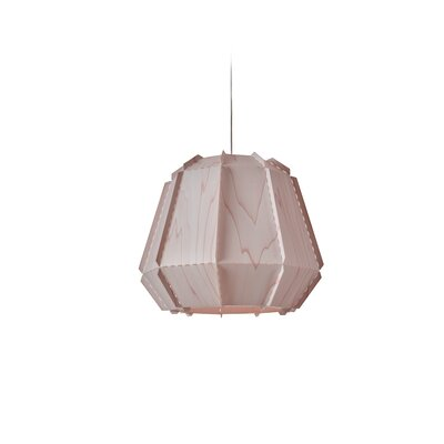 Conkle Stitches 1-Light Geometric Pendant Shade Color: Pink, Bulb Base: GU24