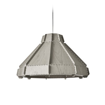Backes Stitches 1-Light Inverted Pendant Shade Color: Gray, Bulb Base: E26/Medium (Standard)
