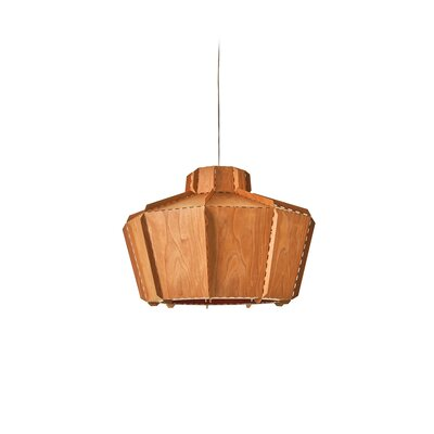 Beran Stitches 1-Light Inverted Pendant Shade Color: Orange, Bulb Base: GU24