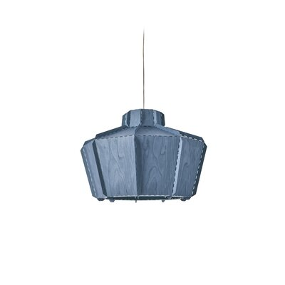 Beran Stitches 1-Light Inverted Pendant Shade Color: Blue, Bulb Base: GU24