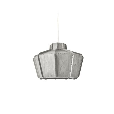 Beran Stitches 1-Light Inverted Pendant Shade Color: Gray, Bulb Base: GU24