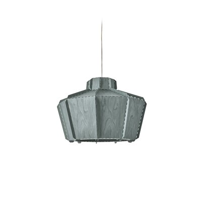 Beran Stitches 1-Light Inverted Pendant Shade Color: Turquoise, Bulb Base: GU24