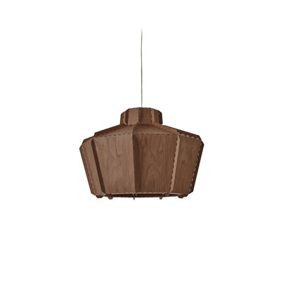Beran Stitches 1-Light Inverted Pendant Shade Color: Chocolate, Bulb Base: GU24