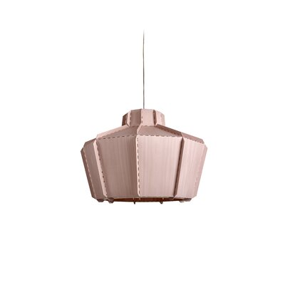 Beran Stitches 1-Light Inverted Pendant Shade Color: Pink, Bulb Base: GU24