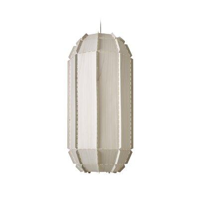 Fontenot Stitches 1-Light Geometric Pendant Shade Color: Ivory White, Bulb Base: E26/Medium (Standard)