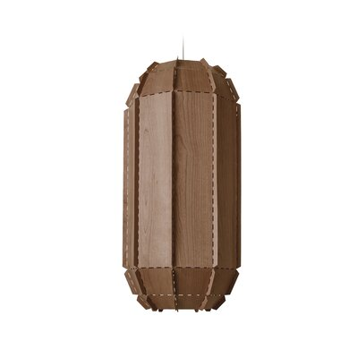 Fontenot Stitches 1-Light Geometric Pendant Shade Color: Chocolate, Bulb Base: E26/Medium (Standard)