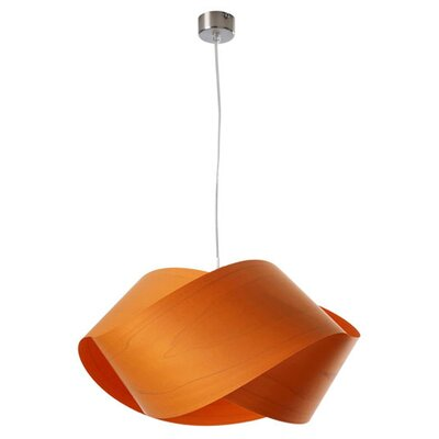 Nut 1-Light Geometric Pendant Shade Color: Orange, Bulb: GU24