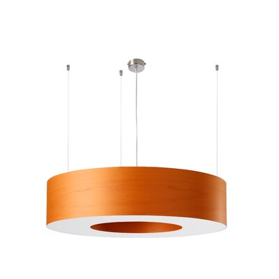 Saturnia 6 LED Integrated Bulb Drum Pendant Shade Color: Orange