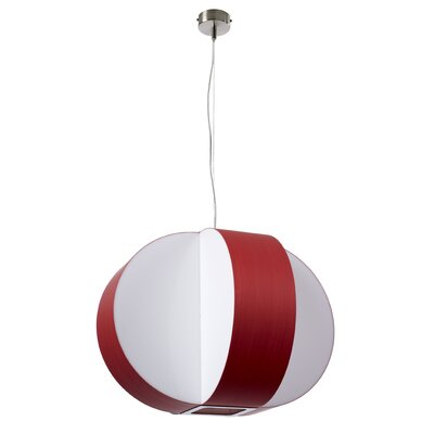 Carambola 4-Light Globe Pendant Shade Color: Red