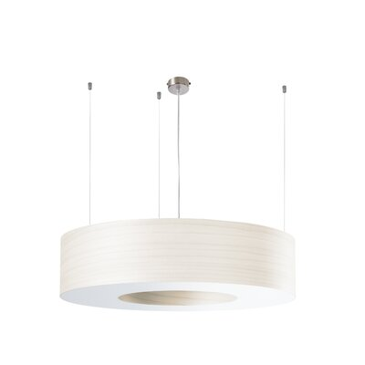 Saturnia 6-Light LED Drum Pendant Shade Color: Ivory White