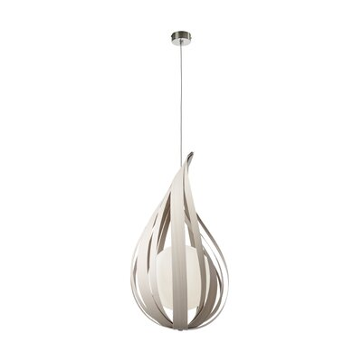 Raindrop 1-Light Mini Pendant Size: 11.8 H x 7 W x 7 D
