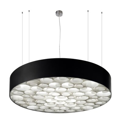 Spiro 9 LED Integrated Bulb Drum Pendant Shade Color: Ivory White