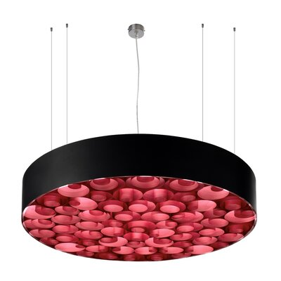 Spiro 9-Light LED Drum Pendant Shade Color: Red