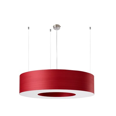 Saturnia 6-Light LED Drum Pendant Shade Color: Red