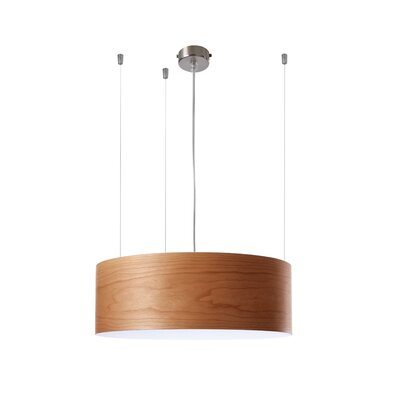 Gea 1-Light Drum Pendant Finish: Natural Cherry, Ballast: 120V