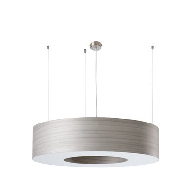 Saturnia 6 LED Integrated Bulb Drum Pendant Shade Color: Grey