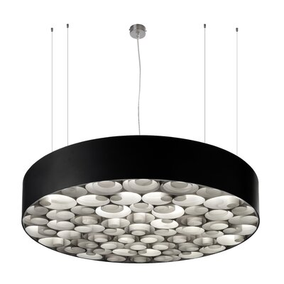 Spiro 6-Light Drum Pendant Base Finish: Black