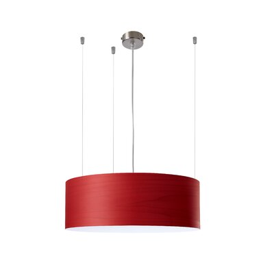 Gea 1-Light Drum Pendant Finish: Red, Ballast: 277V