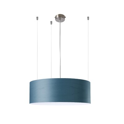 Gea 1-Light Drum Pendant Finish: Blue, Ballast: 277V