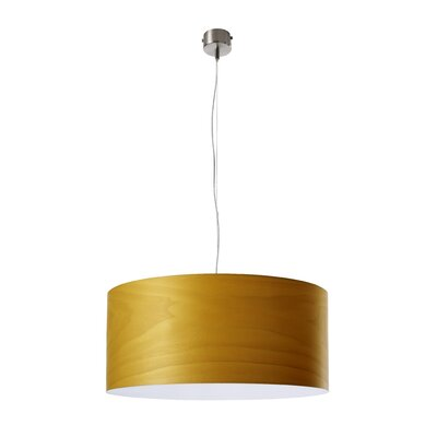 Gea Drum Pendant Size: Small, Bulb Type: GU24 Base, Finish: Yellow
