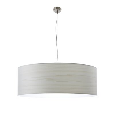 Gea Drum Pendant Finish: Ivory White, Bulb Type: E26 Base, Size: Large