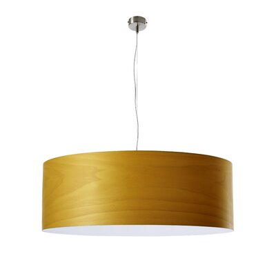 Gea Drum Pendant Finish: Yellow, Bulb Type: E26 Base, Size: Large