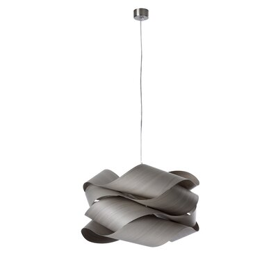 Link 1-Light Geometric Pendant Shade Color: Grey, Size: 9.4 H x 16.5 W x 16.5 D, Bulb Type: E26