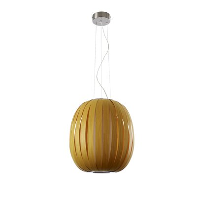 Pod 1-Light Globe Pendant Finish: Orange, Size: 19.7 H x 18.5 W x 18.5 D, Bulb Type: E26 Base