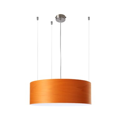 Gea 1-Light Drum Pendant Finish: Orange, Ballast: 120V
