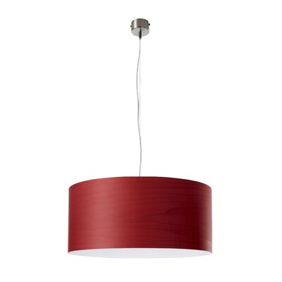 Gea 1-Light Drum Pendant Finish: Red, Size: 7.8 H x 16.5 W x 16.5 D, Bulb Type: E26 Base