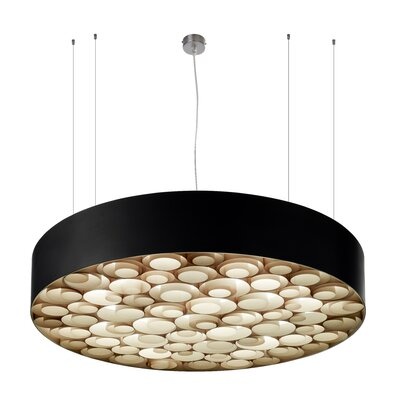 Spiro 9 LED Integrated Bulb Drum Pendant Shade Color: Natural Beech