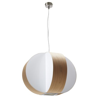 Carambola 4 Light Pendant Finish: Natural Cherry, Voltage: 277V