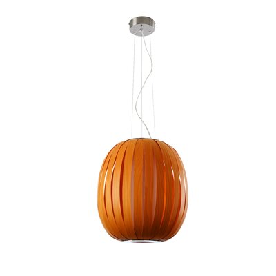 Pod 1-Light Pendant Size: Medium, Bulb Type: GU24 Base, Finish: Natural Beech