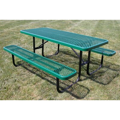 Extra Heavy Duty Picnic Table Finish: Black/Green, Table Size: 6
