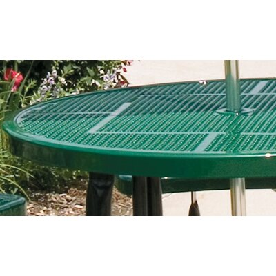 Round Picnic Table with Diamond Pattern Finish: Black/Green