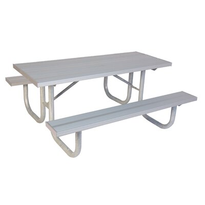 Extra Heavy Duty Aluminum Picnic Table Table Size: 8'