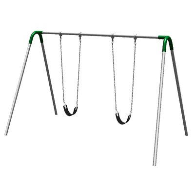 UPlay Today Single Bay Swing Set with Commercial Strap Seats