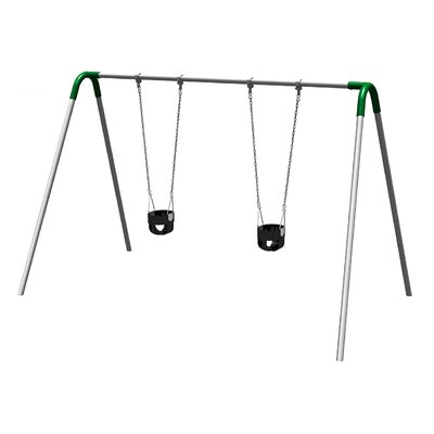 UPlay Today Single Bay Swing Set with Commercial Tot Seats Color: Green PBP-8-1C-GRN