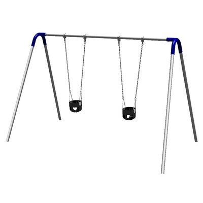 Single Bay Bipod Swing Set With2 Tot Seats - Blue Yokes - Pbp-8-1c-blu - Outdoor Play Equipment Swing Sets And Playsets Swings PBP-8-1C-BLU