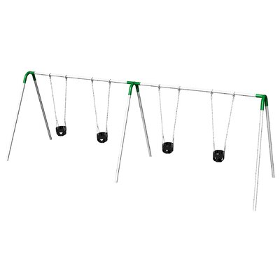 UPlay Today Double Bay Swing Set with Commercial Tot Seats PBP-8-2C-GRN