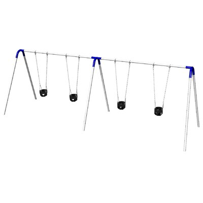 UPlay Today Double Bay Swing Set with Commercial Tot Seats PBP-8-2C-BLU