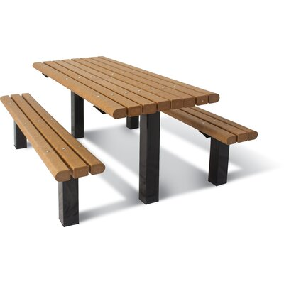 Design Multi Pedestal Plastic Ground Table Product Photo